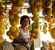 The Girl in the Santarem Brazil Market by Lucinda Walter