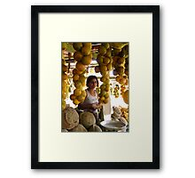 The Girl in the Santarem Brazil Market Framed Print