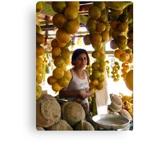 The Girl in the Santarem Brazil Market Canvas Print