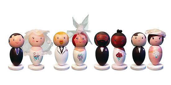 Custom Wedding Cake Toppers by Suzi Linden