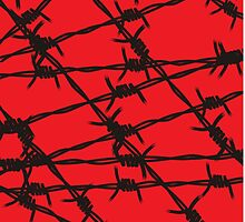 Barbed Wire [Red] by Chillee Wilson by ChilleeWilson
