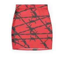 Barbed Wire [Red] by Chillee Wilson Mini Skirt