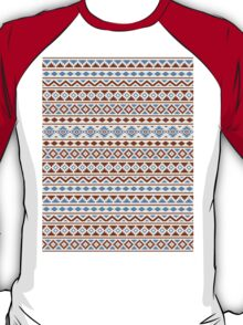 Aztec Essence Pattern II Rust Blue Cream T-Shirt