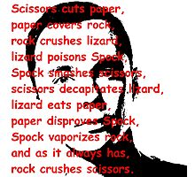 Scissors, Paper, Rock... Tshirts, Stickers, Mugs, Bags Photographic Print