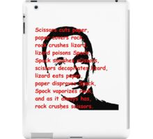 Scissors, Paper, Rock... T Shirts, Stickers and Other Gifts iPad Case/Skin