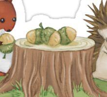 Squirrel and Hedgehog Sticker