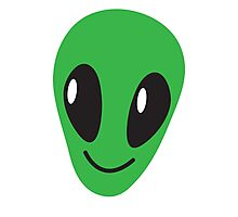 Alien green man face smiling Photographic Print