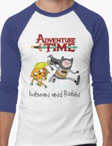 Adventure Time Batman and Robin Men's Baseball ¾ T-Shirt