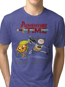 Adventure Time Batman and Robin Tri-blend T-Shirt