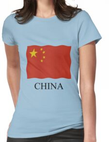 China flag Womens Fitted T-Shirt