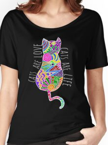 cats are love, cats are life (colours) Women's Relaxed Fit T-Shirt