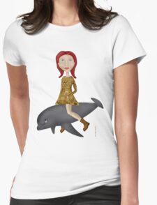 To Ride A Dolphin Tee-Shirt Womens Fitted T-Shirt