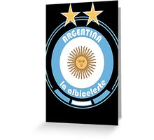 World Cup Football 5/8 - Team Argentina Greeting Card