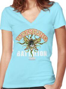 wrestling battalion Women's Fitted V-Neck T-Shirt