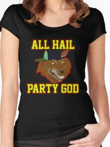 All Hail Party God - Adventure TIme Women's Fitted Scoop T-Shirt