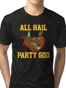 All Hail Party God - Adventure TIme Tri-blend T-Shirt
