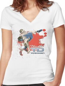 throw down Women's Fitted V-Neck T-Shirt