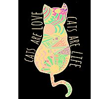 cats are love, cats are life #2 Photographic Print