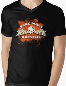 skull wings Mens V-Neck T-Shirt