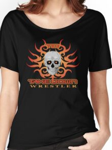 skull flame tatoo Women's Relaxed Fit T-Shirt