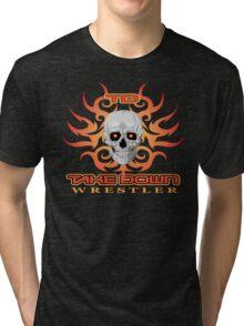 skull flame tatoo Tri-blend T-Shirt