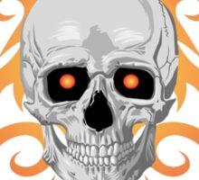 skull flame tatoo Sticker