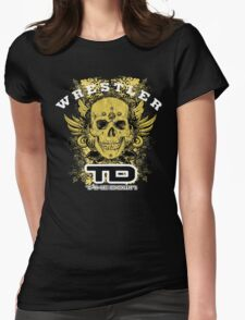 gold wings wrestler Womens Fitted T-Shirt