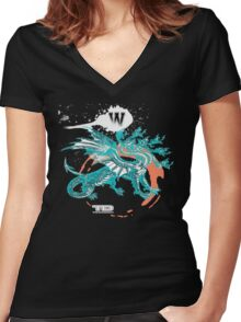 seven dragons Women's Fitted V-Neck T-Shirt