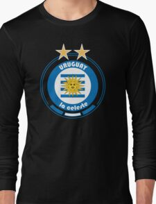 World Cup Football 4/8 - Team Uruguay Long Sleeve T-Shirt