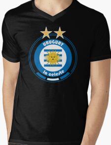 World Cup Football 4/8 - Team Uruguay Mens V-Neck T-Shirt