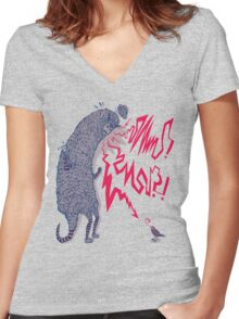 The international language of screaming Women's Fitted V-Neck T-Shirt