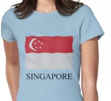 Singapore flag Womens Fitted T-Shirt