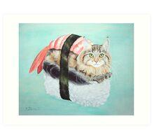 Cat Sushi Art Print