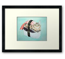 Cat Sushi Framed Print