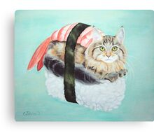 Cat Sushi Canvas Print