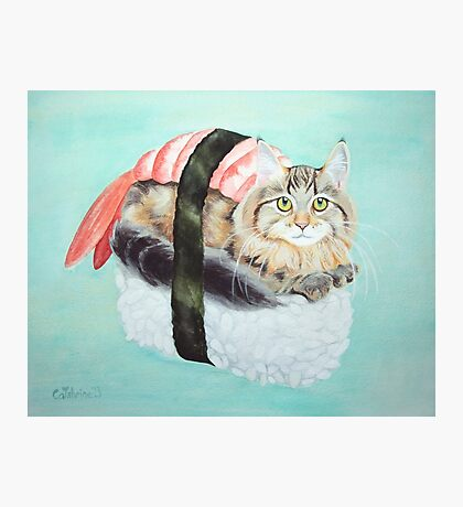Cat Sushi Photographic Print