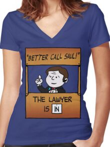 Better Call Saul Lawyer Women's Fitted V-Neck T-Shirt