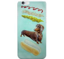 Hot Doggin' - Dachshund in a Bun iPhone Case/Skin