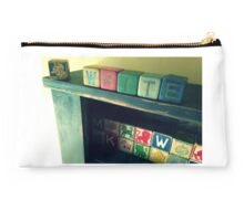 Antique children's blocks, WRITE Studio Pouch