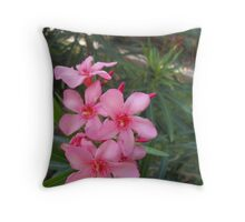 Flowers in Playa del Carmen Mexico Throw Pillow