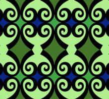 Retro curls - Green Sticker