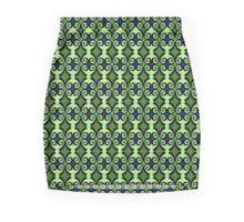 Retro curls - Green Mini Skirt