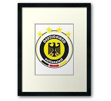 World Cup Football 3/8 - Team Deutschland Framed Print
