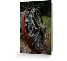 Mossy Wagon Wheel,Otway Ranges Greeting Card