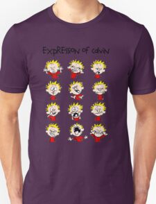 Expression of Calvin and Hobbes T-Shirt
