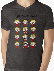 Expression of Calvin and Hobbes Mens V-Neck T-Shirt