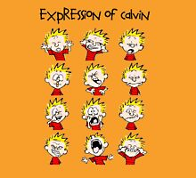 Expression of Calvin and Hobbes Unisex T-Shirt