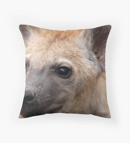Fierce Hyena cub! Throw Pillow