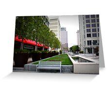 suburban plaza,too Greeting Card