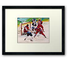 Vancouver 2010: Women's Hockey Action  Framed Print